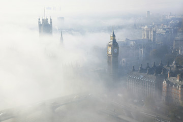Printed kitchen splashbacks London Heavy fog hits London