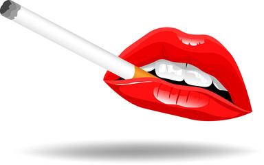 Lips and Smoke Vector
