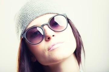 Portrait of stylish teenage girl