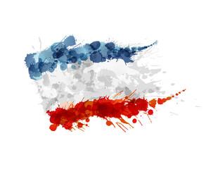 Flag of Crimea made of colorful splashes