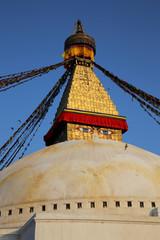 Buddha's compassionate eyes, Stupa Nepal Kathmandu