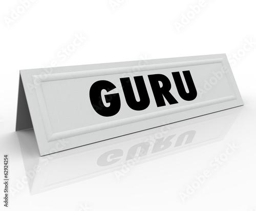 Guru Name Tent Card Expert Master Teacher Guide Speaker  sc 1 st  Fotolia.com & Guru Name Tent Card Expert Master Teacher Guide Speaker