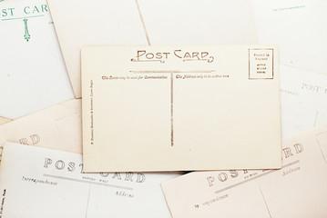 vintage post cards backdrop