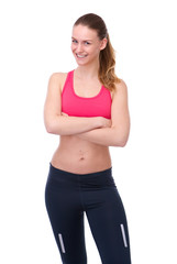 Healthy young woman in sportswear