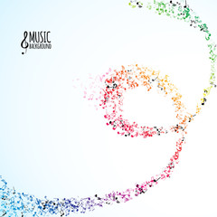 Various music notes