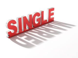 single or married 3d concept