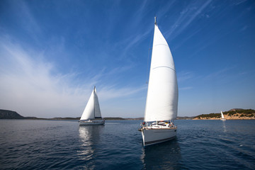 Yachting in Greece. Sailing. Luxury