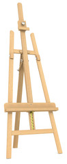 Easel. Side view of an Easel.