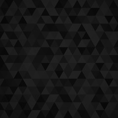 Geometric mosaic pattern from black triangle