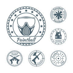 Paintball symbols set
