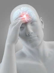 illustration of a man having a headache