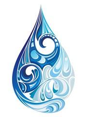 Water drop. Vector illustration