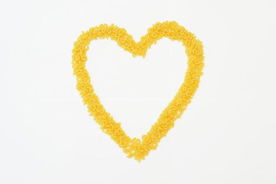 Heart pasta coquillette