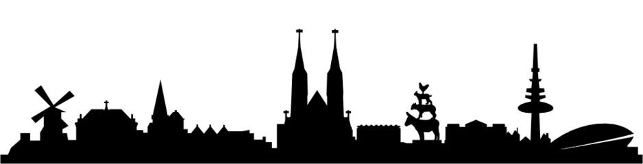 Skyline Bremen Wall mural