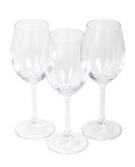 Set of empty wine glasses