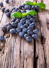 Fresh fruits on wood