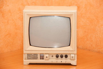 antique TV or old television
