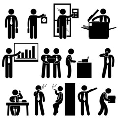 Business Businessman Employee Worker Office