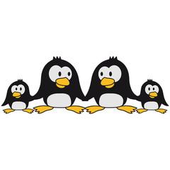 Süße Pinguin Familie Kinder Eltern Mama Papa