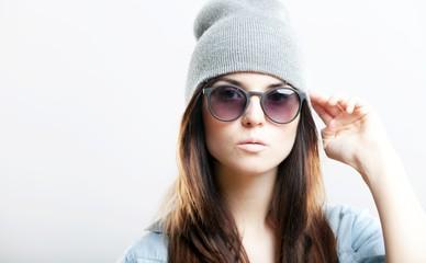Portrait of hipster teenage girl