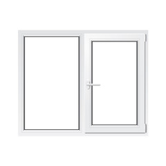 White plastic window vector illustration