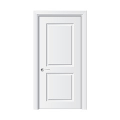 White door vector illustration