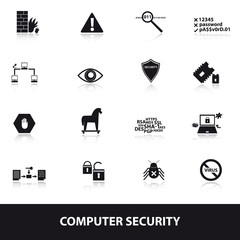 computer security icons eps10