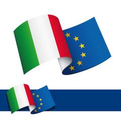 Bandiera Italia Europa - fototapety na wymiar