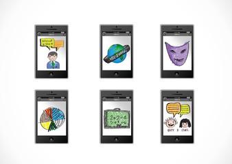 mobile apps concept idea illustration