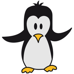Lustiger Niedlicher Pinguin