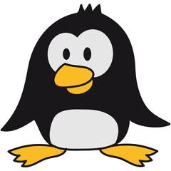 Lustiger Kleiner Süßer Pinguin