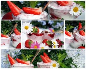 Erdbeerquark-Collage