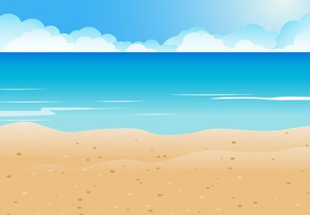 Beach and blue sea background