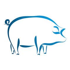 Obraz świnia - fototapety do salonu