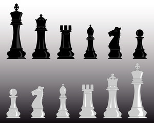 white and black chess
