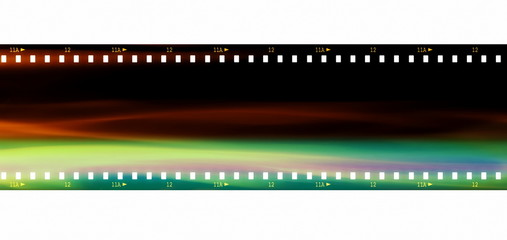 color film strip background and texture