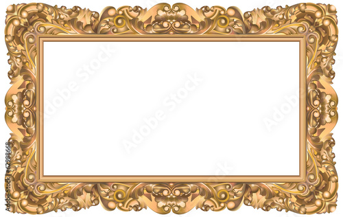 cadre rococo rectangulaire or fichier vectoriel libre de droits sur la banque d 39 images fotolia. Black Bedroom Furniture Sets. Home Design Ideas
