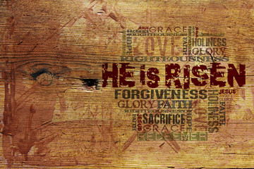 """He Is Risen""Easter Background"