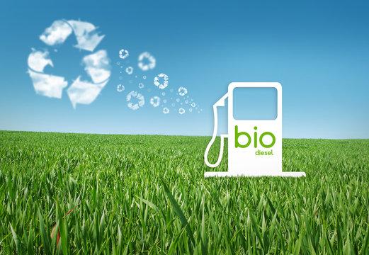Alternative Fuel Gas Pump in the meadow