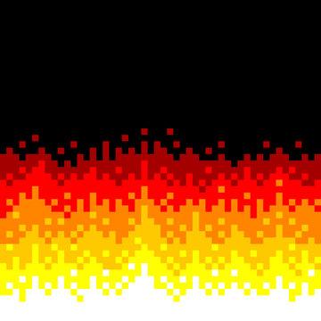 8-Bit Pixel-art Fire Background