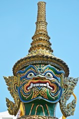detail of thai statue in Grand Palace