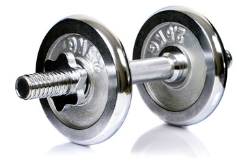 chrome dumbbell equipment