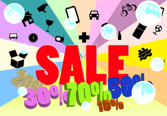 sale message and icon cargo vector design