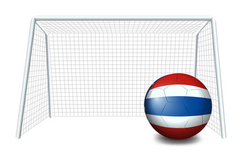 A ball with the flag of Thailand
