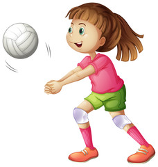 A young volleyball player