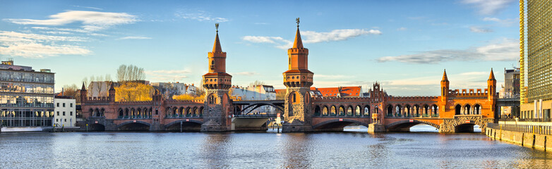 Wall Murals Berlin Oberbaum bridge in Belin - Germany