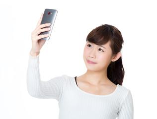 Asia woman selfie
