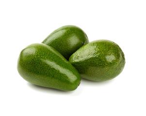 fresh avocado fruit isolated on white