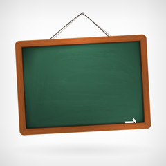 green empty vector chalkboard