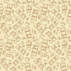 Chocolate seamless background